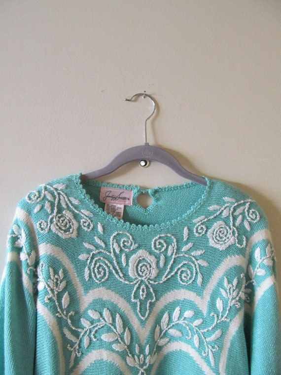Beaded Sweater Tunic S M 38 Bust