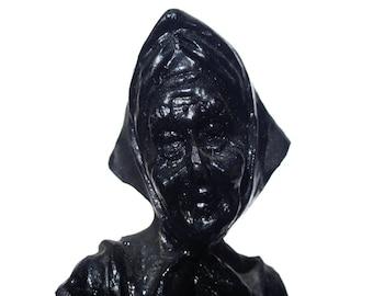 Compressed coal figurine- coal miners wife-coal art