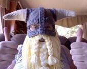 CROCHET PATTERN PDF Skyrim Inspired Viking Helmet With Detachable Beard
