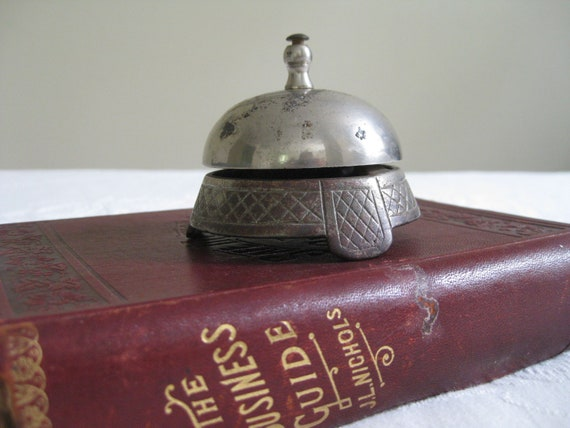 Vintage Counter top Desk Bell - May I help you