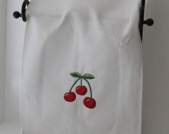 Cherry Linen Handtowels
