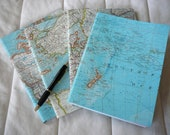 Vintage Map Covered Composition Notebook-Wide ruled