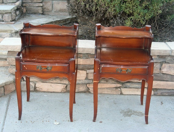 Two Vintage Nightstands Ready To Paint By Foo Foo La La
