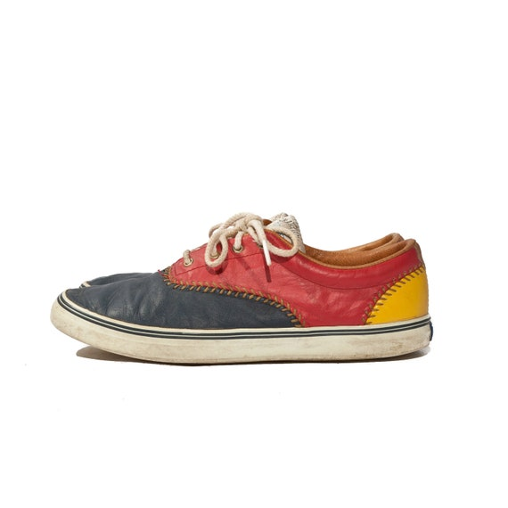 Keds Tennis Shoes Primary Colors Red Yellow Blue Champion Series size 9