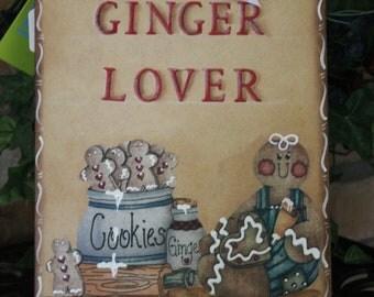 Gingerbread Decor....Ginger Lover Clipboard..Note Holder..Recipe Holder..Ginger Collector