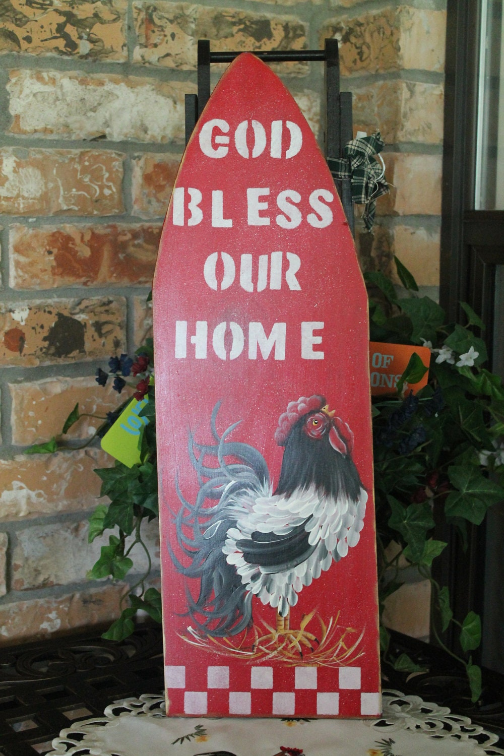 Vintage Child S Ironing Board Rooster