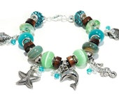 "Beach Charm Bracelet ""Carribean Dream"""