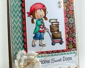 Handmade Home Sweet Dorm Greeting Card