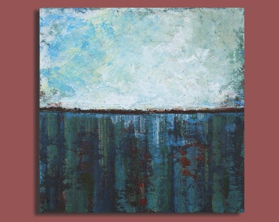 Sale - Abstract Seascape Painting - North Atlantic Crossing (24x24)