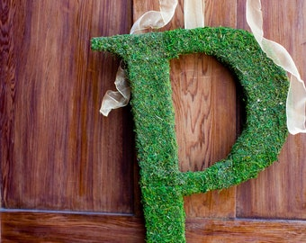 Moss Covered Letter - Moss Monogram Wedding Letter ( 20 inches )