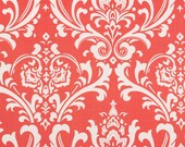 Coral Damask Contour Changing Pad Cover