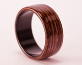 Wenge Bentwood Ring with Grenadilla Liner - And We Plant A Tree :)