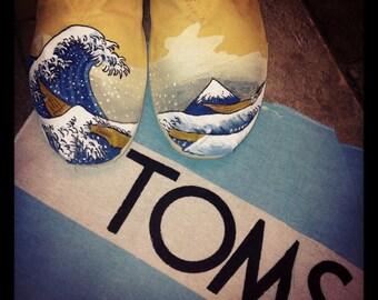 The Great Wave off Kanagawa Custom TOMS