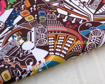 "3168B  - 1 yard Vinyl Waterproof Fabric - Cartoon - baby  (brown)  - 57""x36"""