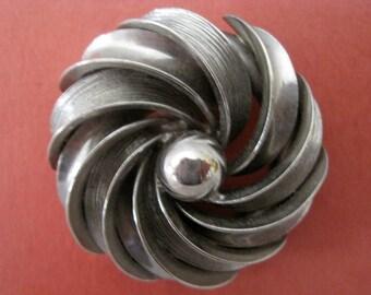 Pretty Vintage Silver Pinwheel Brooch
