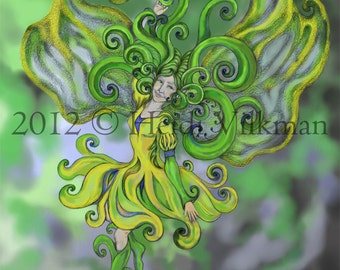 Fantasy Fairy Art - Faery Print - Beautiful Painting - Original Art - Archival Art Print
