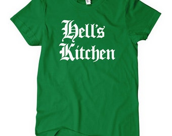 Women's Hell's Kitchen Tee - Gothic New York City T-shirt - S M L XL 2x - NYC Ladies - 4 Colors