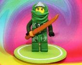 Green Ninja Cake Topper - Custom Listing for KNittinger