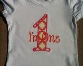 I'm One Birthday Shirt - 1st Birthday Shirt for Girls - Ruffle Hem