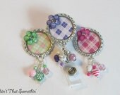 Pretty Palette of Colors in Argyle Retractable Badge Reel
