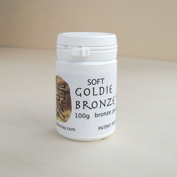Goldie Bronze Metal Clay Soft 50g or 100g Powder DIY Material Jewelry Craft Supply Supplies Do It Yourself