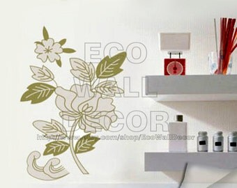 PEEL and STICK Removable Vinyl Wall Sticker Mural Decal Art - Perfect Flower Stem