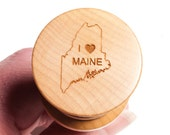 Bottle stopper made from Curly Maple -  I love Maine