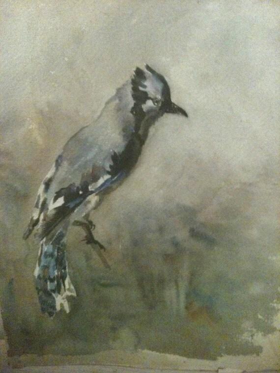 1920's Bird Watercolor