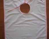 Custom Order for D.Lane - Custom Double-Layer White Batiste Bib