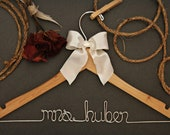 Wedding Decor. Rustic Wedding Decor. Hangers for the bride or bridesmaids