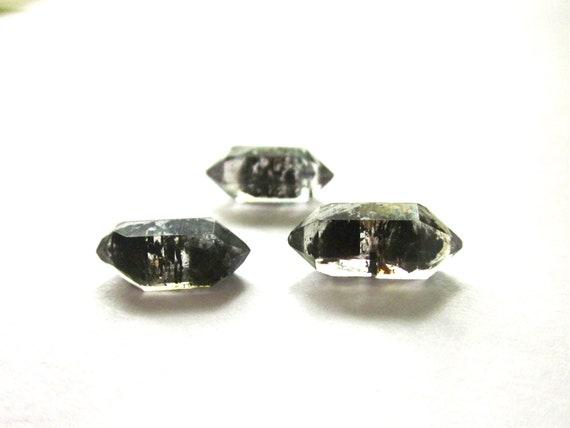 Tibetan Black Quartz Double Terminated 3 Crystals 13-14mm (Lot No. 1029)
