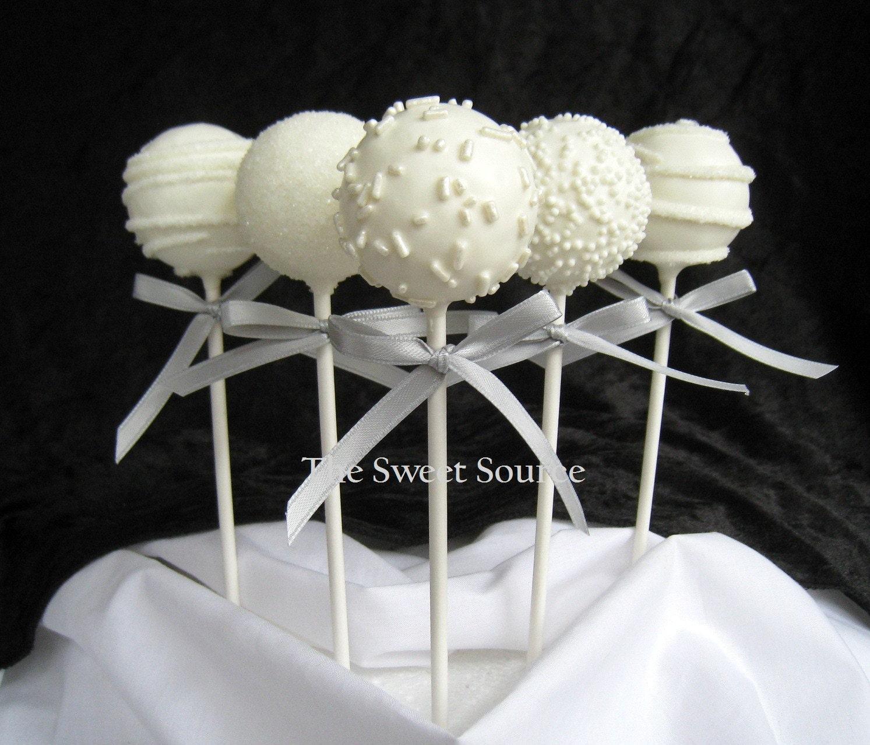 Images Wedding Cake Pops : Edible Wedding Favor Premium Wedding Cake by ...
