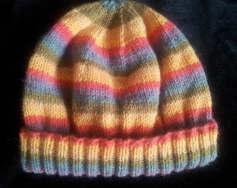 Custom Hand Knitted Beanie Style Hat Made to Your Specifications Made to Order
