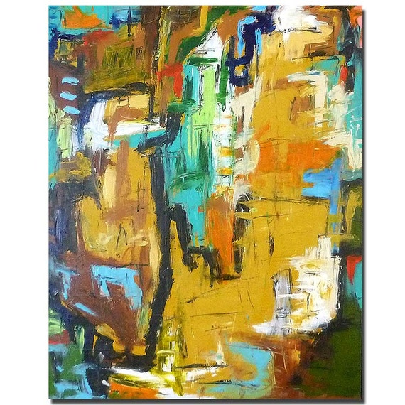 Brodway......original acrylic painting abstract art
