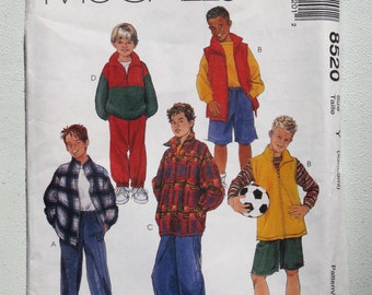 Boys Jacket Pants Pattern McCalls 8520
