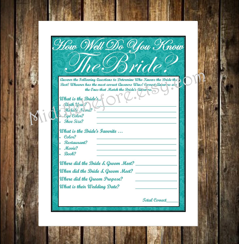 INSTANT DOWNLOAD Blue Damask Printable Wedding Bridal Shower