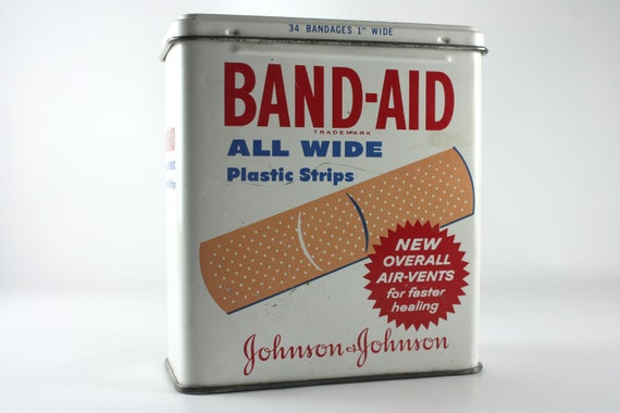 Band-Aid tin vintage collectable johnson and johnson
