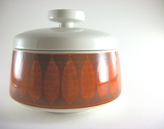 Rare 1960s Franciscan Discovery Covered Casserole with Lid // Terra Cotta // Mod // Red, Orange // Scandanavian
