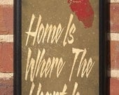 Home Is Where The Heart Is - Customizable Florida Vintage Style Plaque/Sign Decorative & Custom
