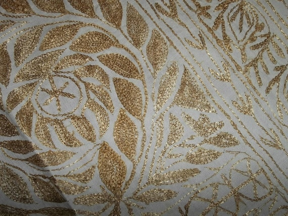 """Antique Tambour Lace Shawl Fine Linen....Not Perfect...Large 36"""" by 79"""" Rectangle"""
