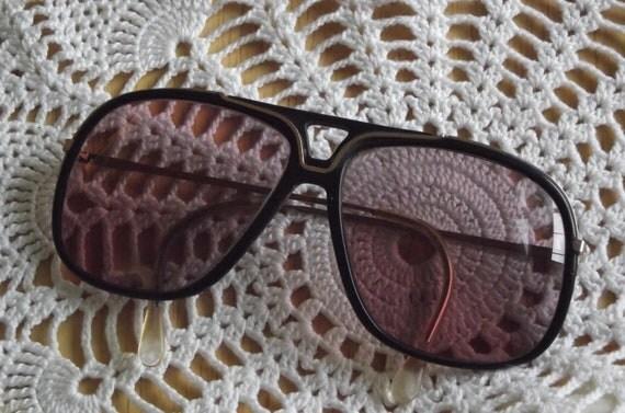 Vintage ladies sunglasses eye glasses big boho rose colored glasses