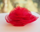 Wedding Red hair piece, Red flower . Red rose