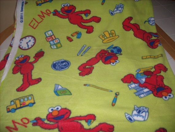 1 Yard Licensed Fleece Fabric Elmo By Sesame By