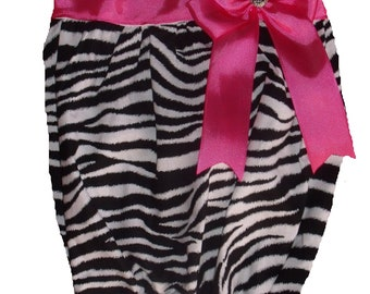 Boutique Zebra and Hot Pink Dress Gown Size 0 to 3M or 3 to 6M