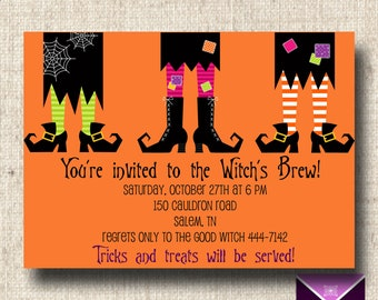 Printable Halloween Invitation - Witches Brew Party