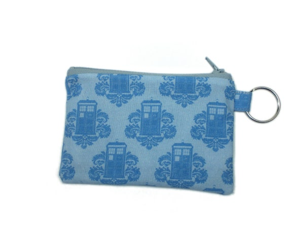 Tardis coin purse 5 inch doctor who zipper wallet