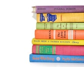 Colorful Vintage 7 Book Collection Interior Design Vintage Book Decor