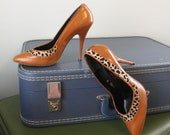 vintage sky high heels / Pony Up / leather and pony hair stilettos / size 7.5 - 8