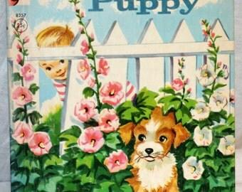 Rand McNally Elf Book 8357 Hide-Away Puppy 1952