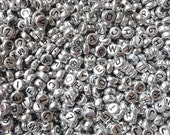 50 grams of Silver Plating Alphabet Acrylic Beads